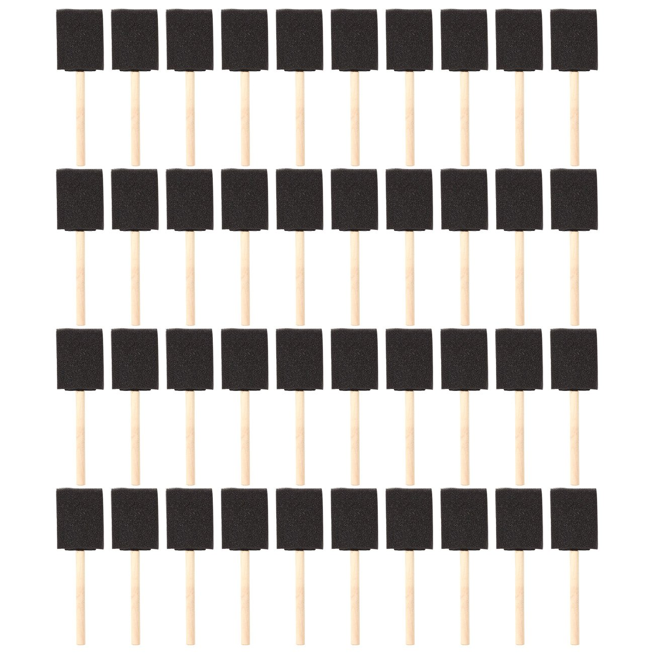 Pack of 40 Foam Paint Brush Set - Value Pack - Great for Acrylics, Stains, Varnishes, Crafts, Art, 2 Inch by Juvale