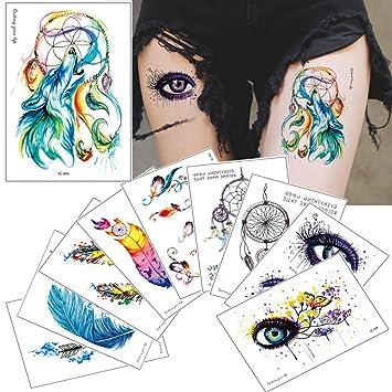 Temporary Tattoo Stikcer Atrapasueños Diseño de cuerpo para dibujo ...