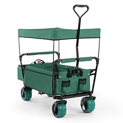DURAMAXX The Green Supreme Carretilla de mano plegable 68 kg max toldo nevera portátil extraíble (