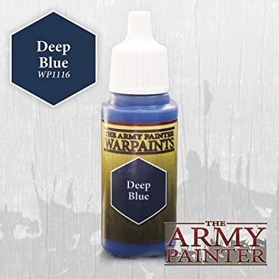 The Army Painter Warpaint, Deep Blue - Acrylic Paint for Miniatures in 18 ml Dropper Bottle: Toys & Games