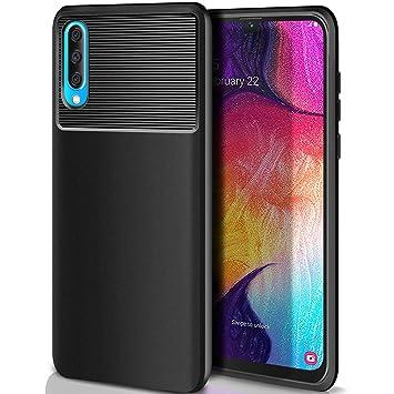 ivencase Carcasa Samsung Galaxy A50 Funda Silicona, Ultra Slim Suave Silicona TPU Bumper Anti-arañazos Antigolpes Caja para Samsung Galaxy A50 Case ...