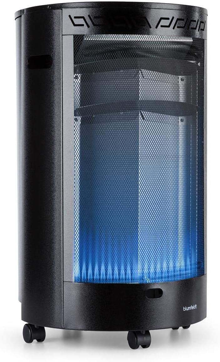Bombonas hasta 15 kg 3 Niveles Encendido el/éctrico con Pilas AAA Quemador cer/ámico infrarrojo Blanco blumfeldt Bonaparte 4.200 W Regulador Baja preci/ón Ignici/ón piezoel/éctrico Estufa de Gas