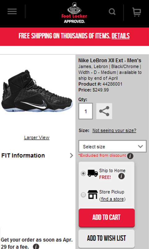 61b5997fc6af Amazon.com  Foot Locker  Appstore for Android