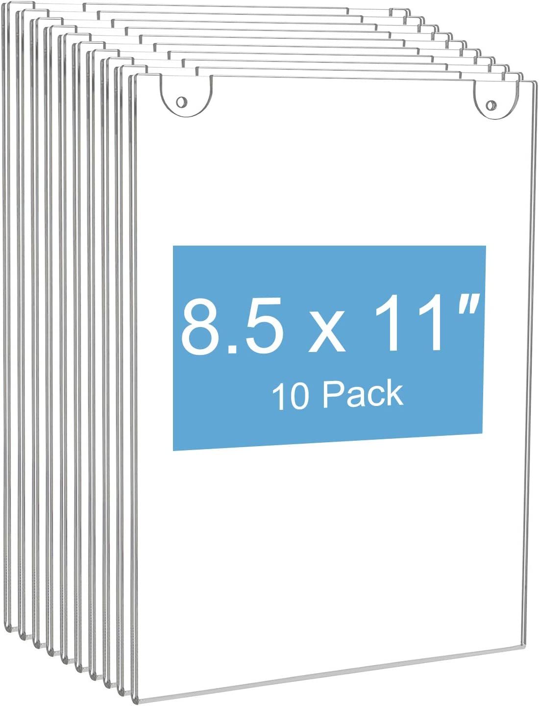 Amazon Com Niubee 10pack Acrylic Wall Mount Sign Holder 8 5 X 11 Clear Ad Frames For Papers Bonus With 3m Tape And Mounting Screws Office Products