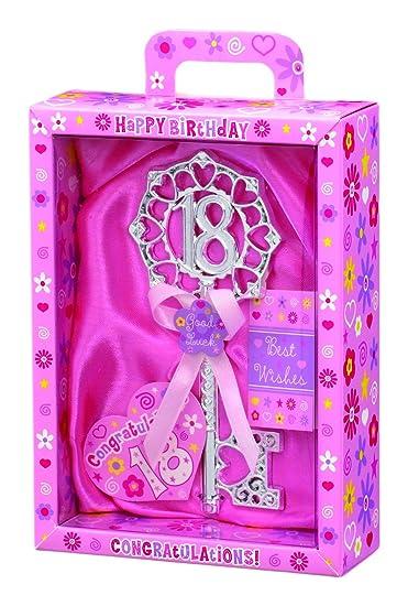 Amazon.com: Clave para la puerta 18th recuerdo de cumpleaños ...