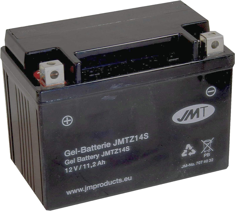 YTZ14S Gel Batterie f/ür Super Adventure 1290 T ABS Baujahr 2017 von JMT