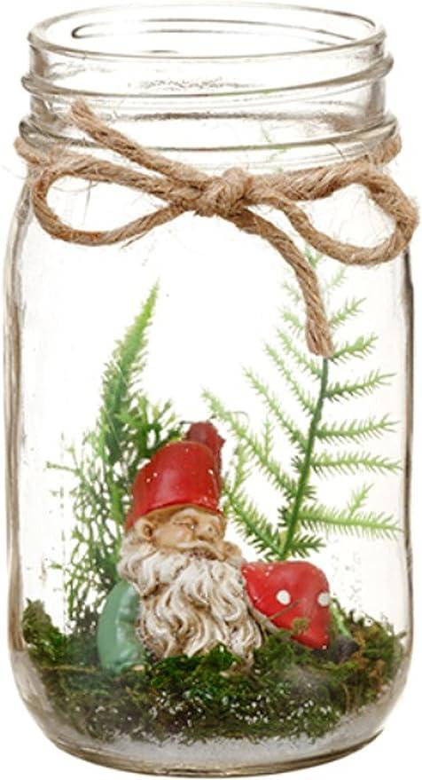 Amazon Com Gnome In Glass Mason Jar Terrarium Fairy Garden