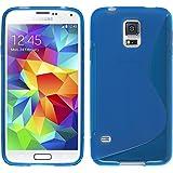 PhoneNatic Custodia Samsung Galaxy S5 Cover blu S-Style Galaxy S5 in silicone + pellicola protettiva