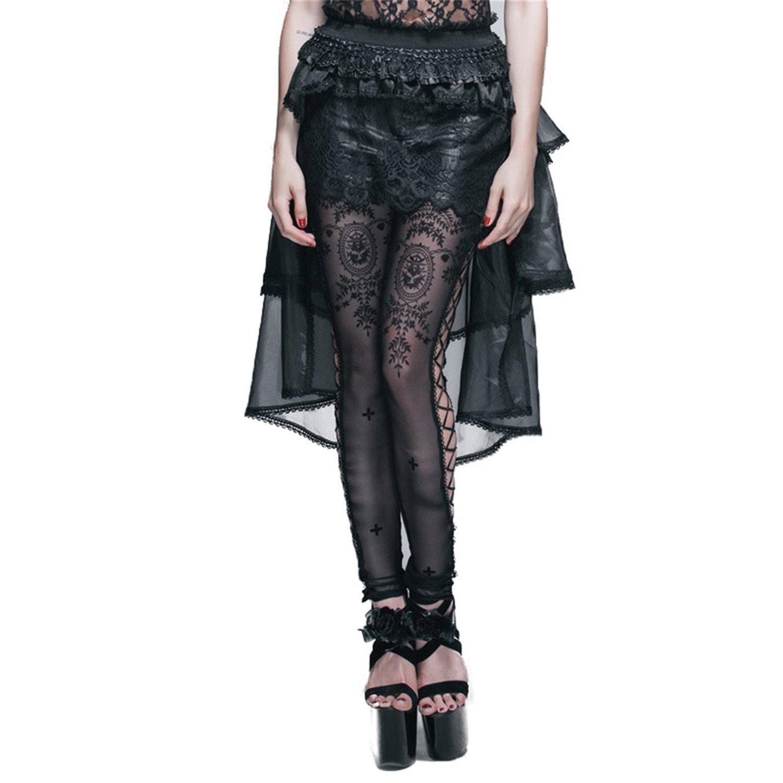 Black Women Gauze Lace Skirts Gothic Lolita MultiLayer Eugen Yarn Skirts