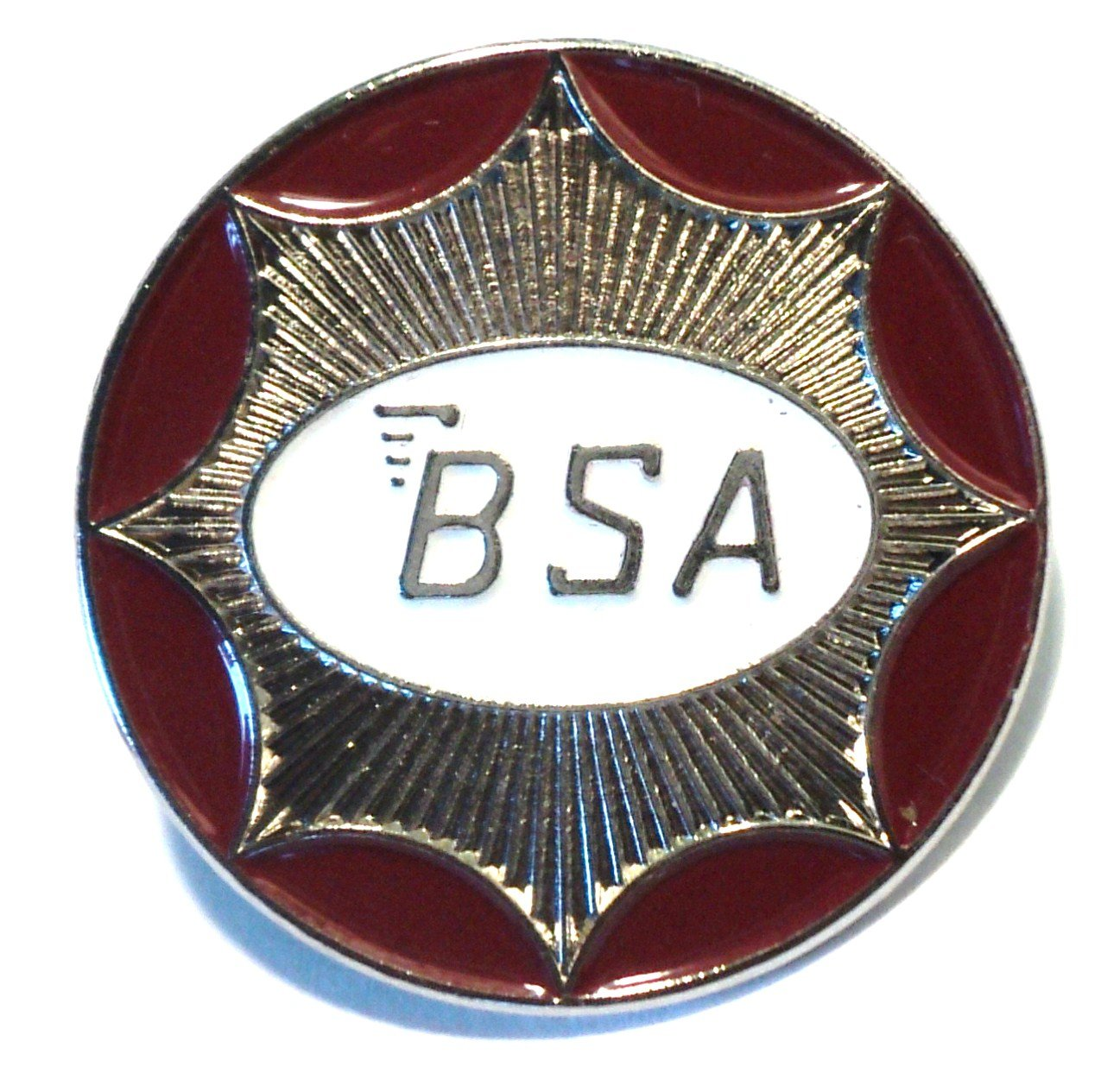 BSA 1960classique de forme ronde interrupteur à bascule en métal moto Badge en émail Mercmad