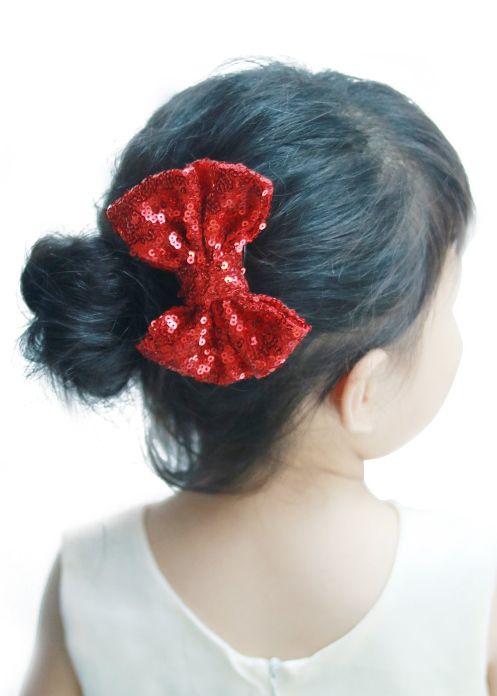 Missgrace bébé fille Paillettes dorées Messy Nœud Pinces à cheveux pour enfant fille fête Cheveux Noeuds Or et Argent Paillettes nœuds pour bébé fille Accessoires Cheveux