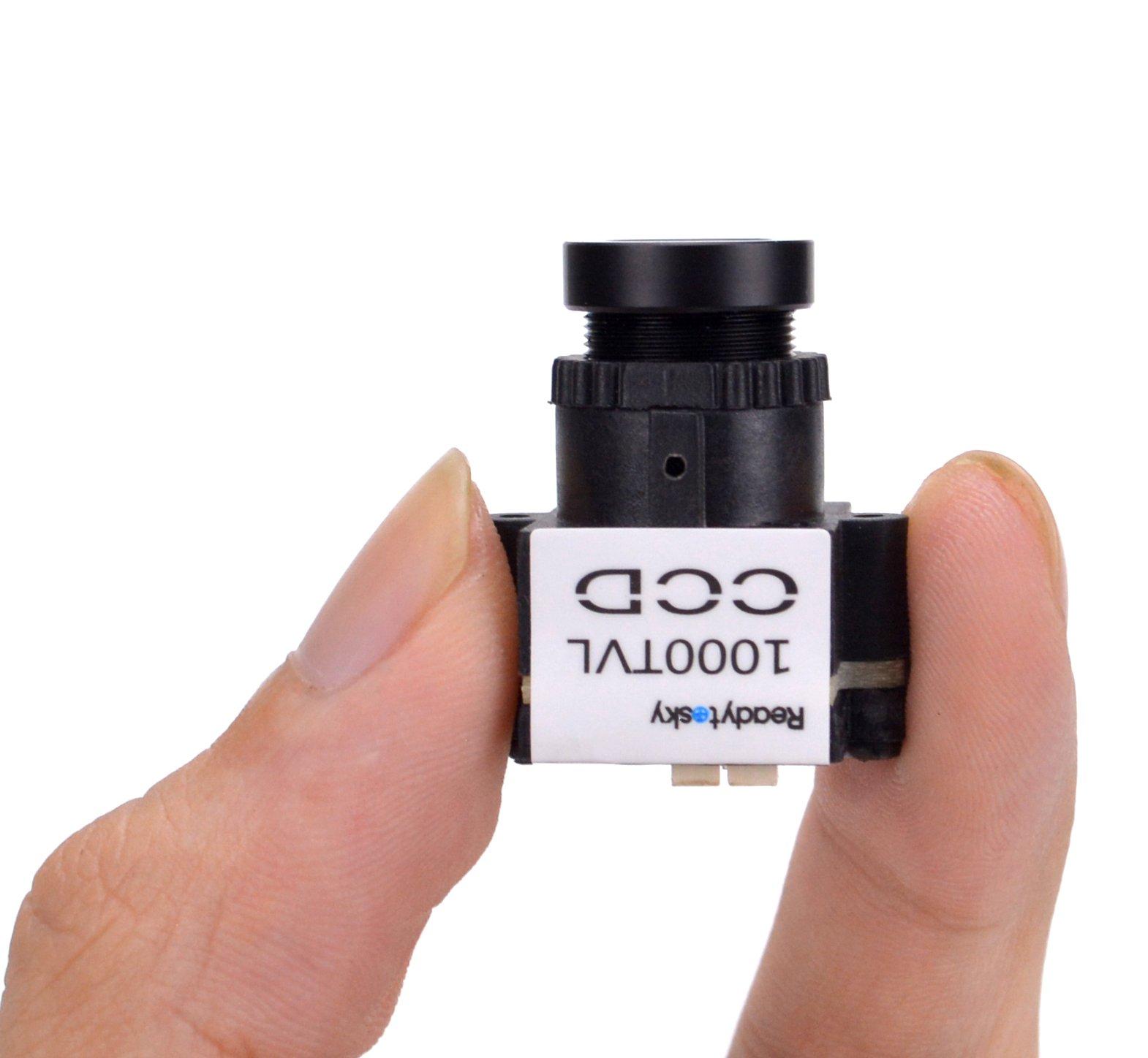 Readytosky HD FPV Camera 1000TVL 1/3 CCD 110 Degree 2.8mm Lens Mini NTSC PAL Switchable Camera for FPV Quadcopter by Readytosky