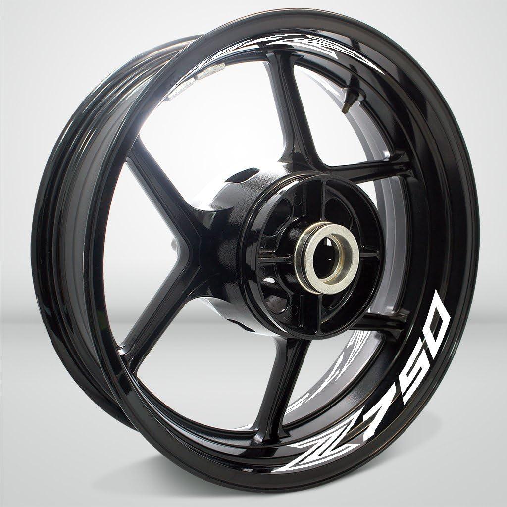 2 Tono Ametista Ruote Moto Cerchione Inner Rim Tape Decalcomanie Adesivi per Kawasaki Z750