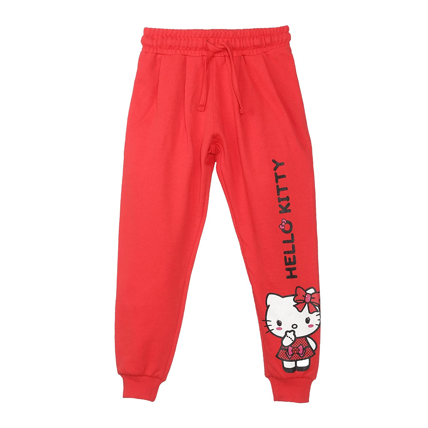 6c34ae618 Hello Kitty Girls' Relaxed Regular Fit Cotton Trousers: Amazon.in: Clothing  & Accessories