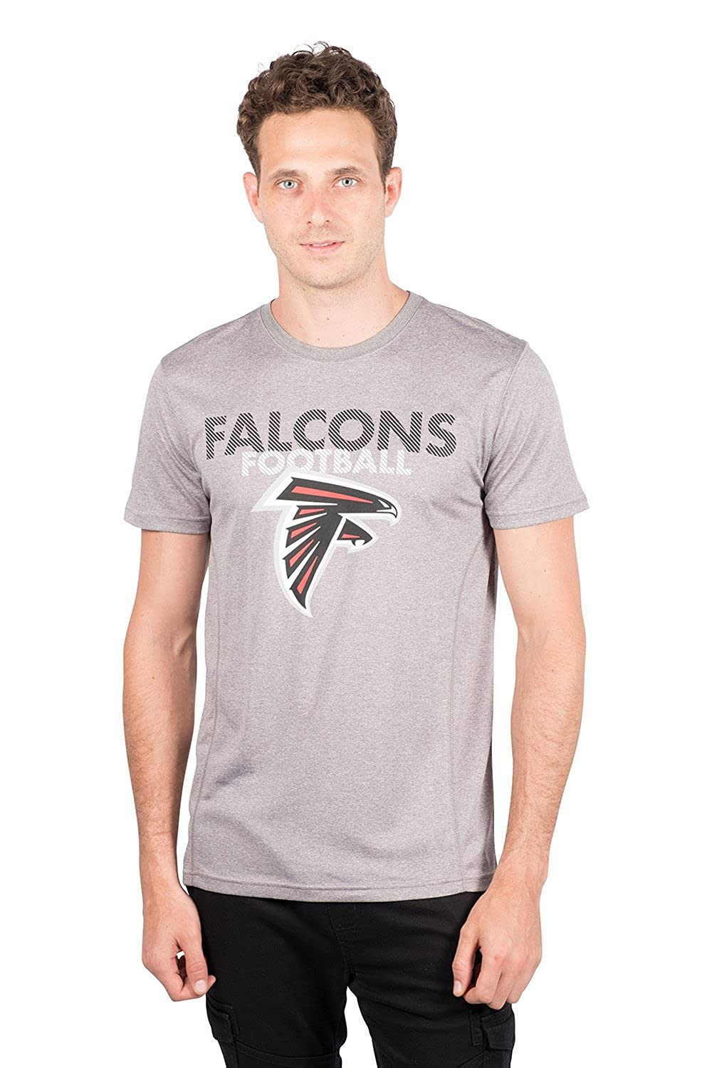 Heather Gray Large NFL Atlanta Falcons Ultra Game Mens SS POLY CREW NECK TEE