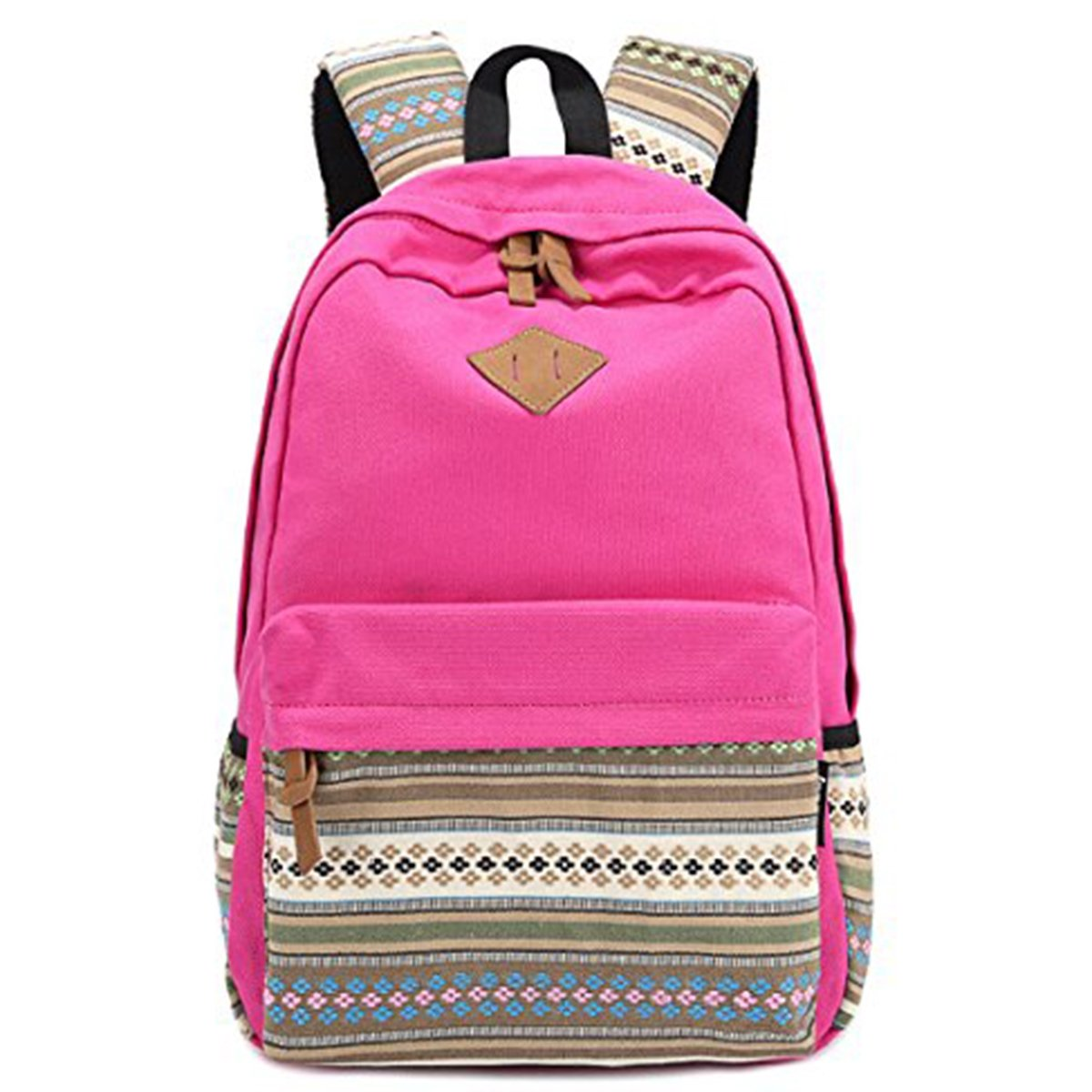 a1ed3342dc free shipping OULII Bohemian Style Girls Double-Shoulder Bag Travel Bag  (Rosy)
