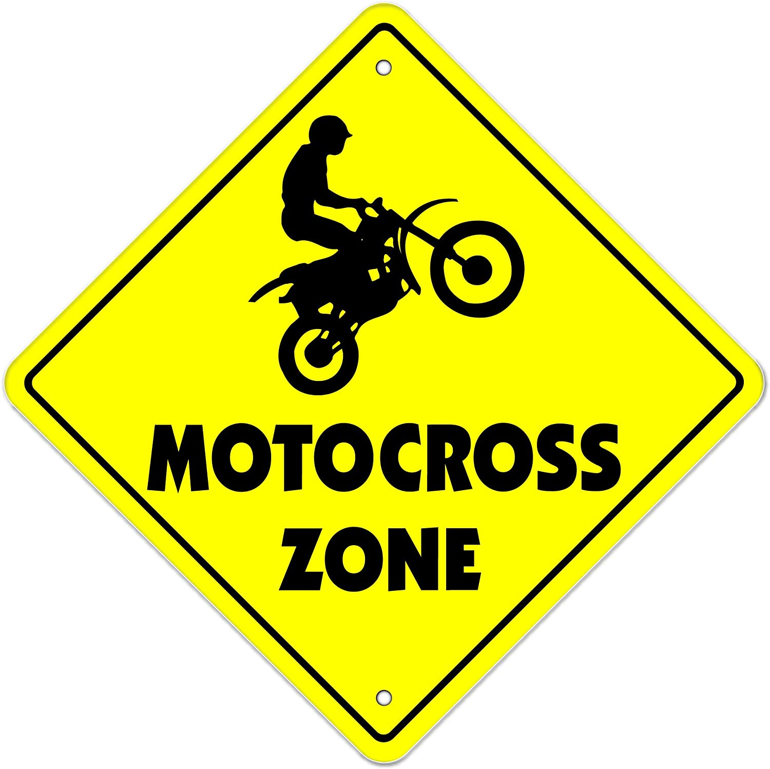 """Motocross Crossing Sign Zone Xing 