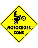 """Motocross-m Crossing Sign Zone Xing 