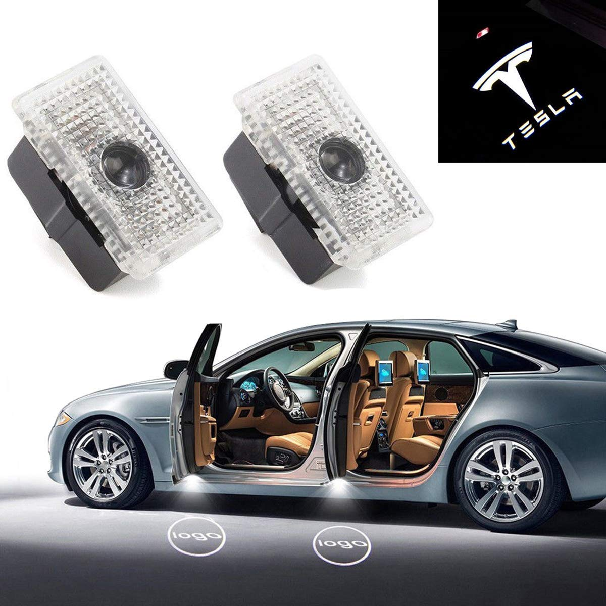 Eastfly Car Door LED Logo for Nissan Projector Ghost Shadow Altima Amadar Titan Pathfinder Quest Maxima LED Courtesy Step Lights Ground Lamp Kit Replacement Entry Welcome Lamp Logo Light