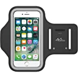 """MoKo Armband for iPhone 7 / iPhone 6s / 6, Sweatproof Sports Running Armband Workout Arm Band Cover for iPhone 7, 6S, 6, 5S, 5, Galaxy S7, Moto G, BLU 5.0, Black (Fits Arm Girth 10.8""""-16.5"""")"""