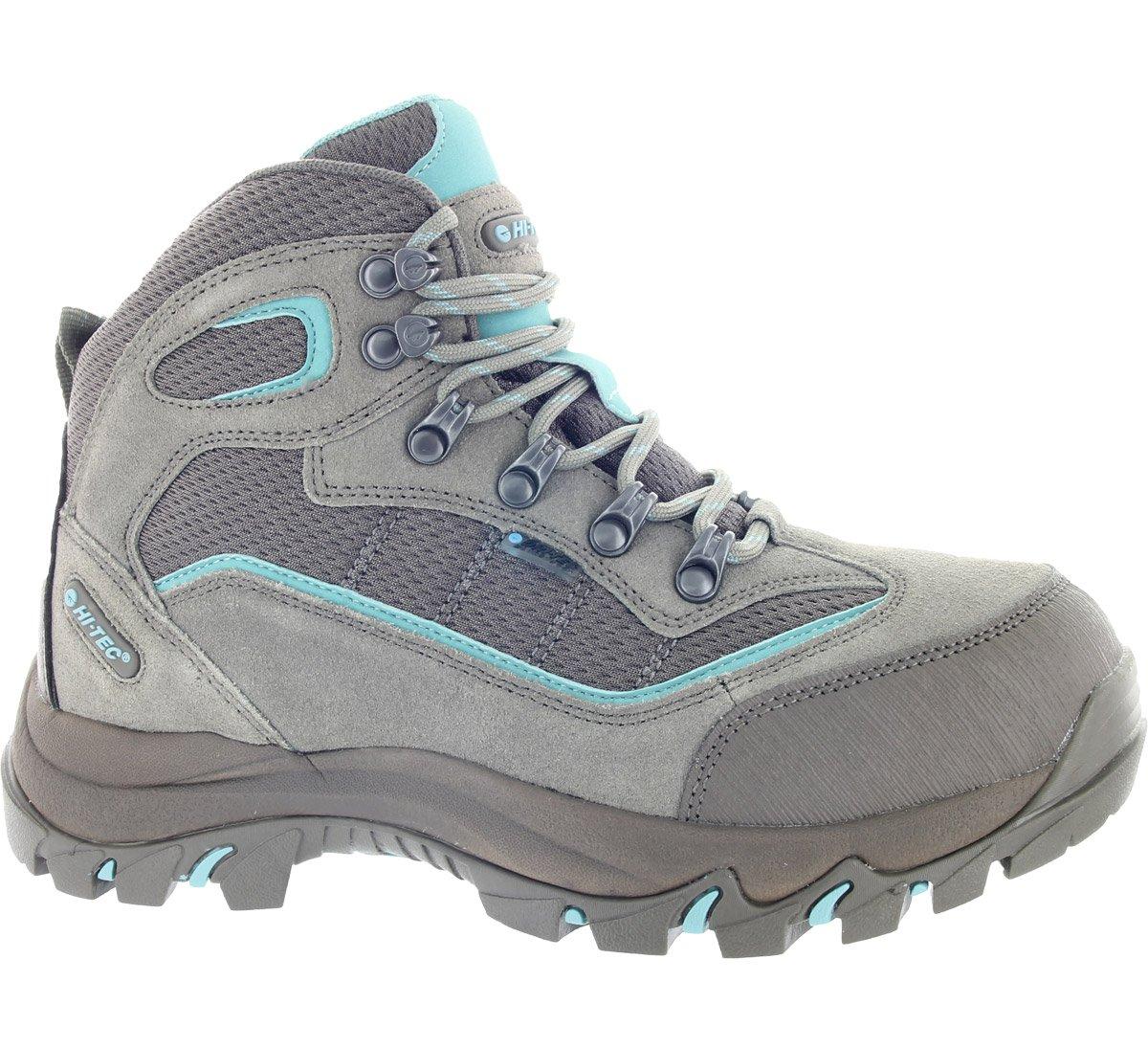 Hi-Tec Women's Skamania Hiking Boots Waterproof, Taupe/Smokey Brown/Mint, 5.5 B(M) US