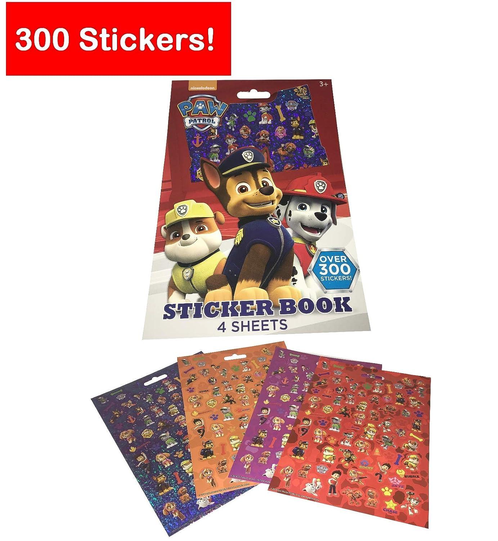 Rocky Paw Patrol Mini Figures Set of 6 Rubble Zuma Chase Paw Patrol Reward Sticker Book with 300 Stickers 6 Party Invitations Cards NSC eCommerce Inc. Marshall Skye