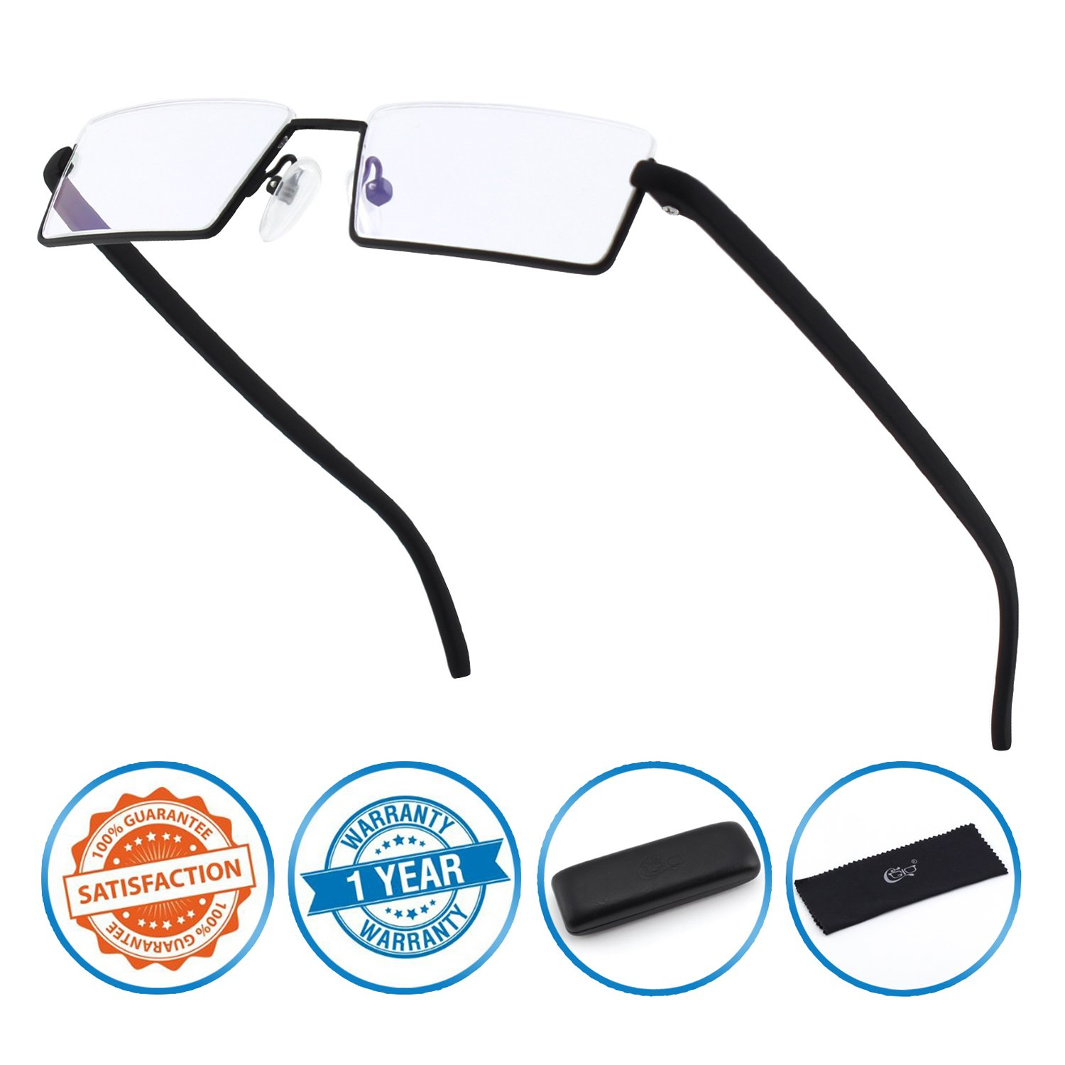 121acc8f7c0 Amazon.com  CGID Half Rim Anti-Blue light Readers