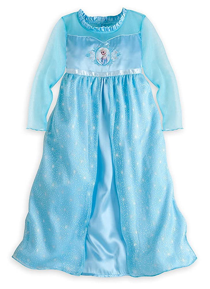 Amazon.com  Disney Store Frozen Princess Elsa Nightgown Girls Size XS 4  (4T)  Childrens Costumes  Clothing a31d1c0a4