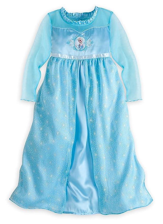 Amazon.com: Disney Store Frozen Princess Elsa Nightgown Girls Size ...