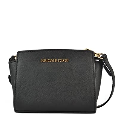 8fa28e6e1de683 MICHAEL Michael Kors Selma Mini Black Saffiano Messenger Bag one size Black