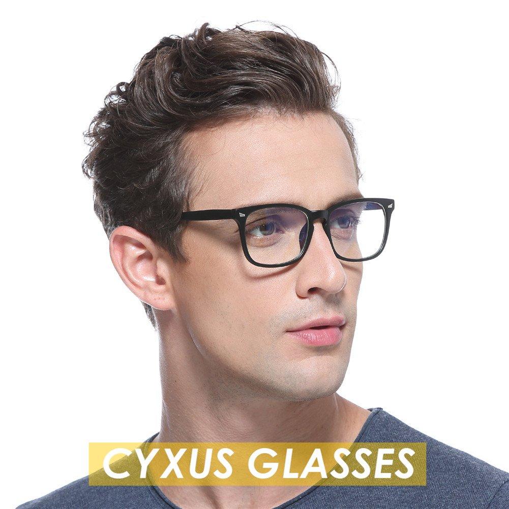Cyxus Blue Light Filter Computer Glasses for Blocking UV Headache [Anti Eye Eyestrain] Transparent Lens, Unisex (Men/Women) (classic black) by Cyxus (Image #4)