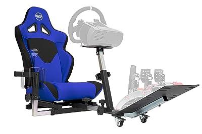 Openwheeler GEN2 Racing Wheel Stand Cockpit Blue on Black