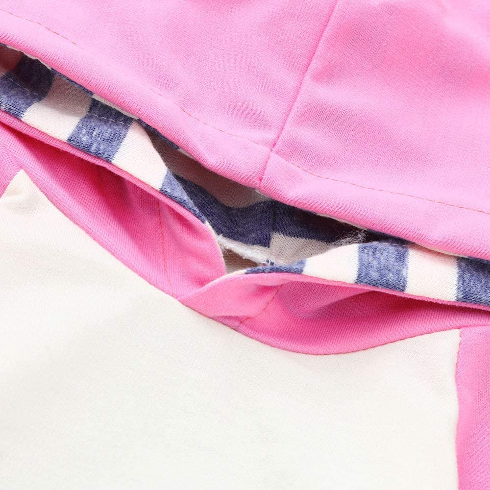 Fascia Abiti,Miscela di Cotone FEIXIANG 3PCS Bambini Set Bimbo Bambino Ragazzo Ragazza Abbigliamento Set Felpa con Cappuccio Pantaloni