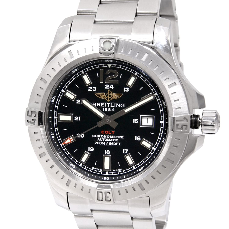 [ブライトリング] BREITLING コルト オートマティック ウォッチ 腕時計 ブラック ステンレススチール(SS) A17388 [中古] B00Y6MZW42