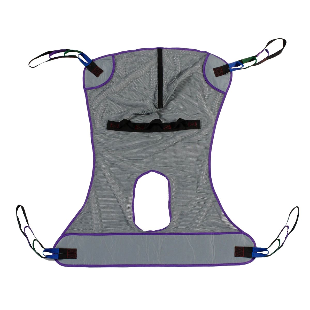Full Body Mesh Commode Patient Lift Sling, 600lb Weight Capacity (Large)