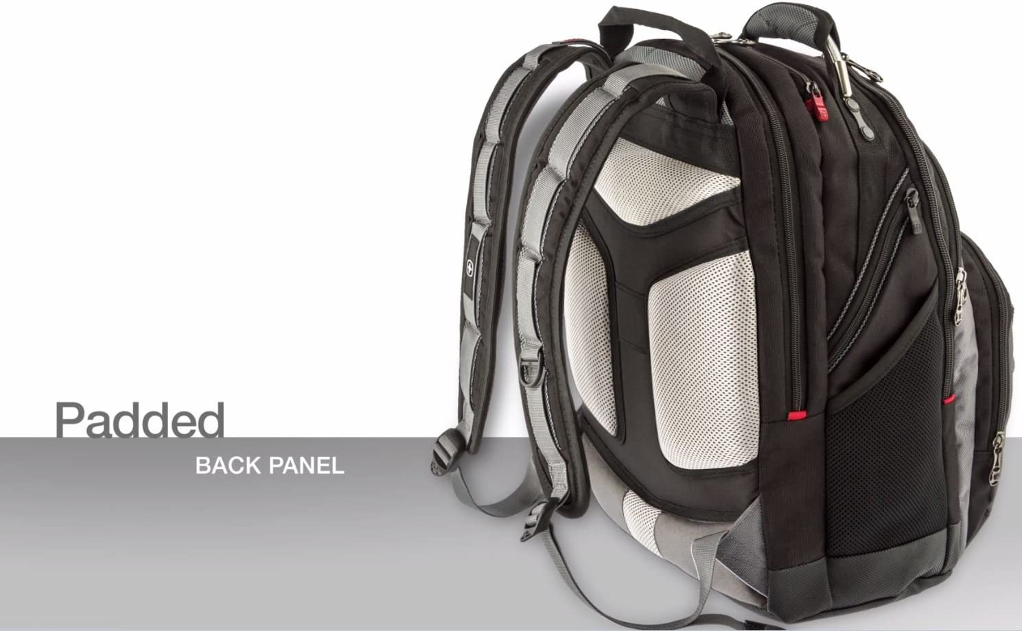Wenger 605074 Synergy 16 Backpack with Shock Absorbing Shoulder Straps In Black {30 Litres}