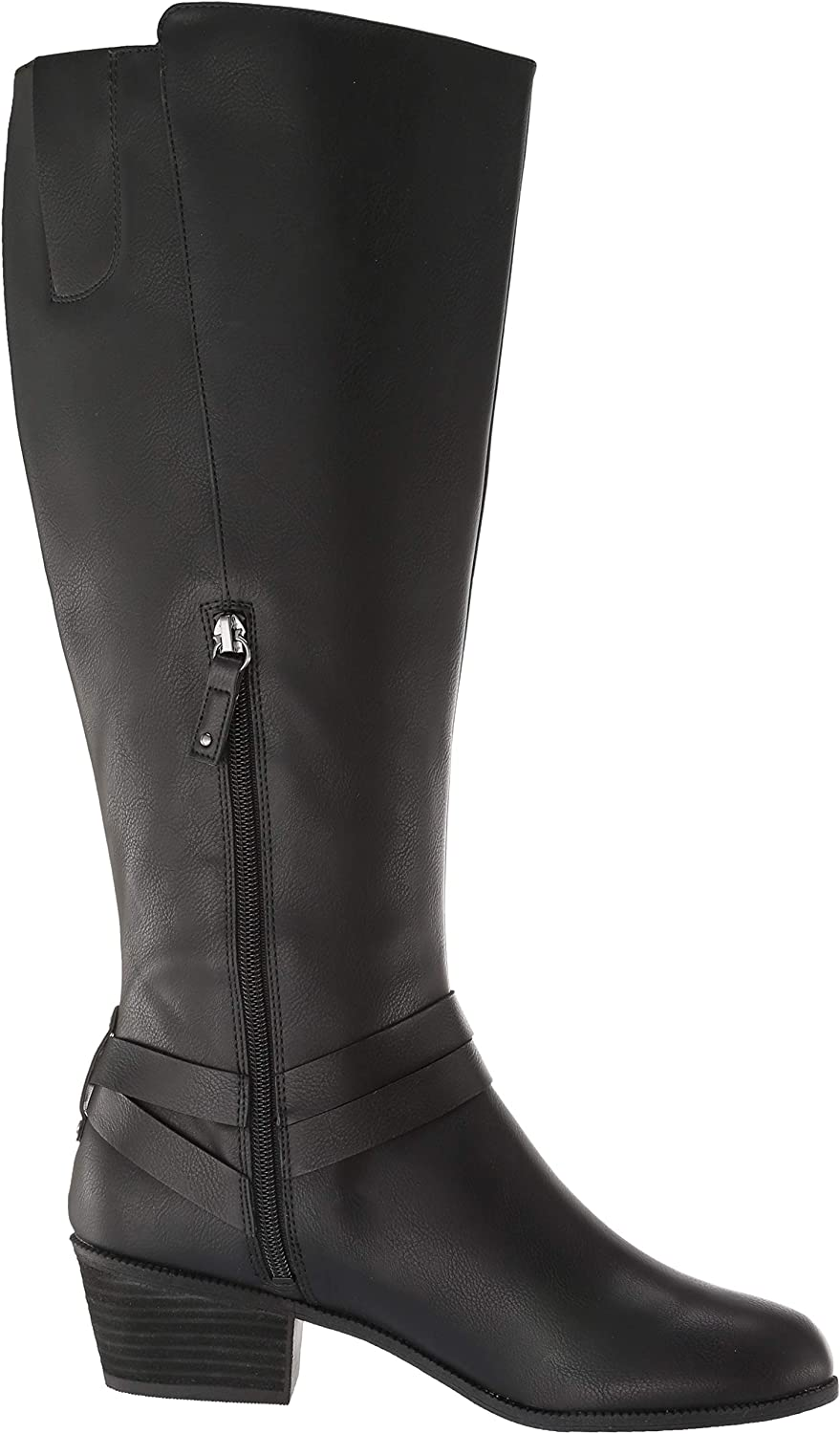 Dr 7.5 Medium//Wide Shaft US Black Smooth Scholls Shoes Womens Baker Calf Knee High Boot
