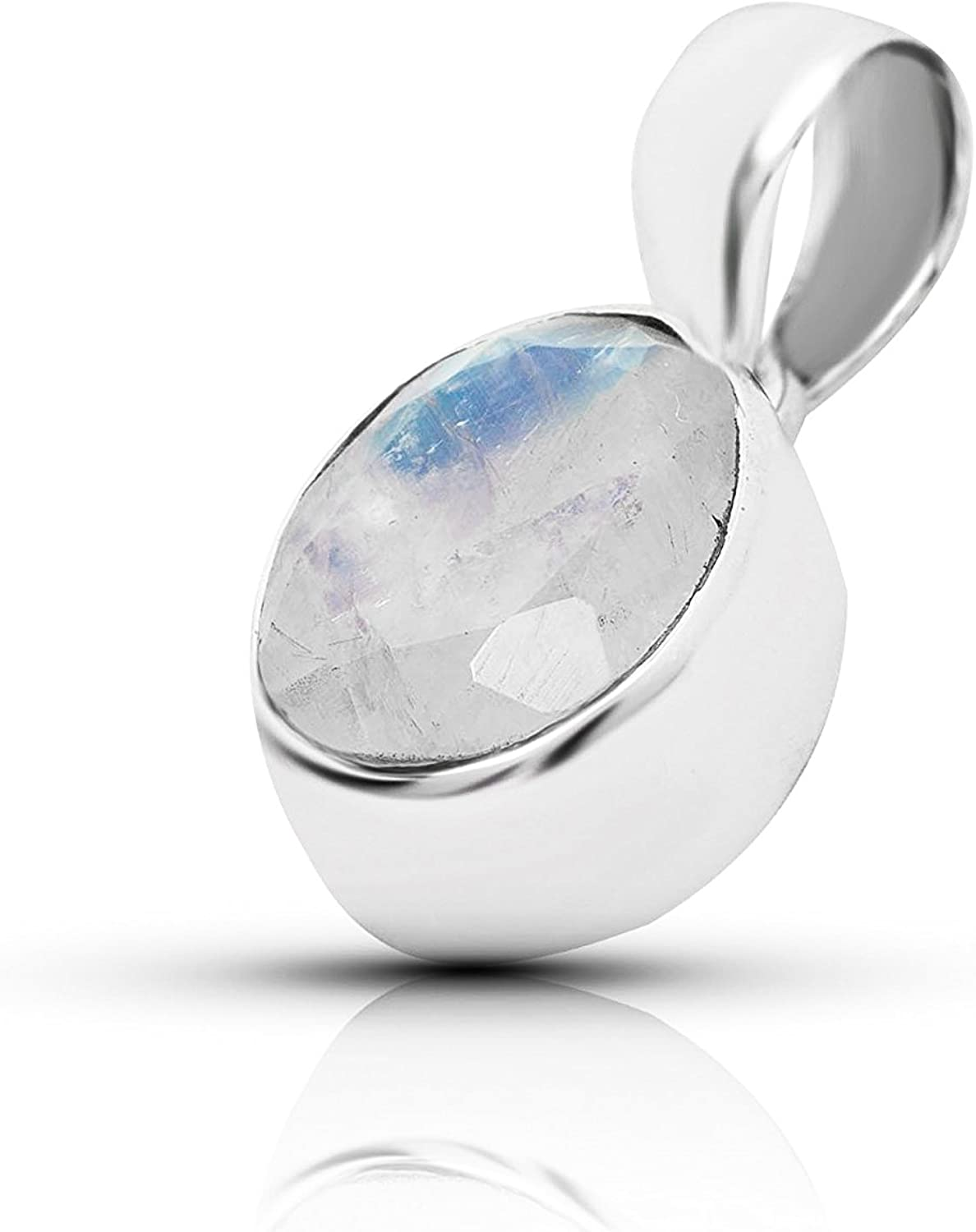 Moonstone Faceted Pear Shape Pendant 26-28 mm Hot Selling Chocolate Moonstone Sterling Silver Bezel Connector Pendant SSC124