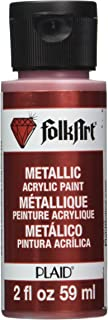 product image for FolkArt Metallic Acrylic Paint in Assorted Colors (2 oz), 657, Regal Red