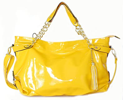 Amazon.com: Steve Madden Yellow Leather Handbag