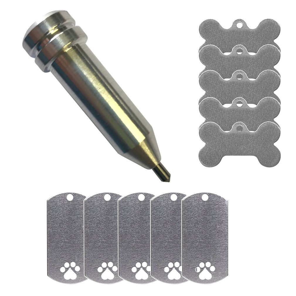 Etching/Engraving Maker-Explore Tool by Chomas Creations and Stamping Blanks: Dog Bone and Dog Tag with Paw 4336822512