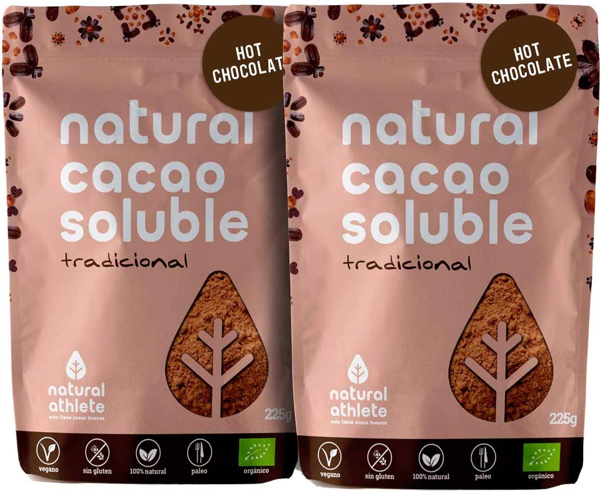Cacao soluble NATURAL ATHLETE (2 paquetes)