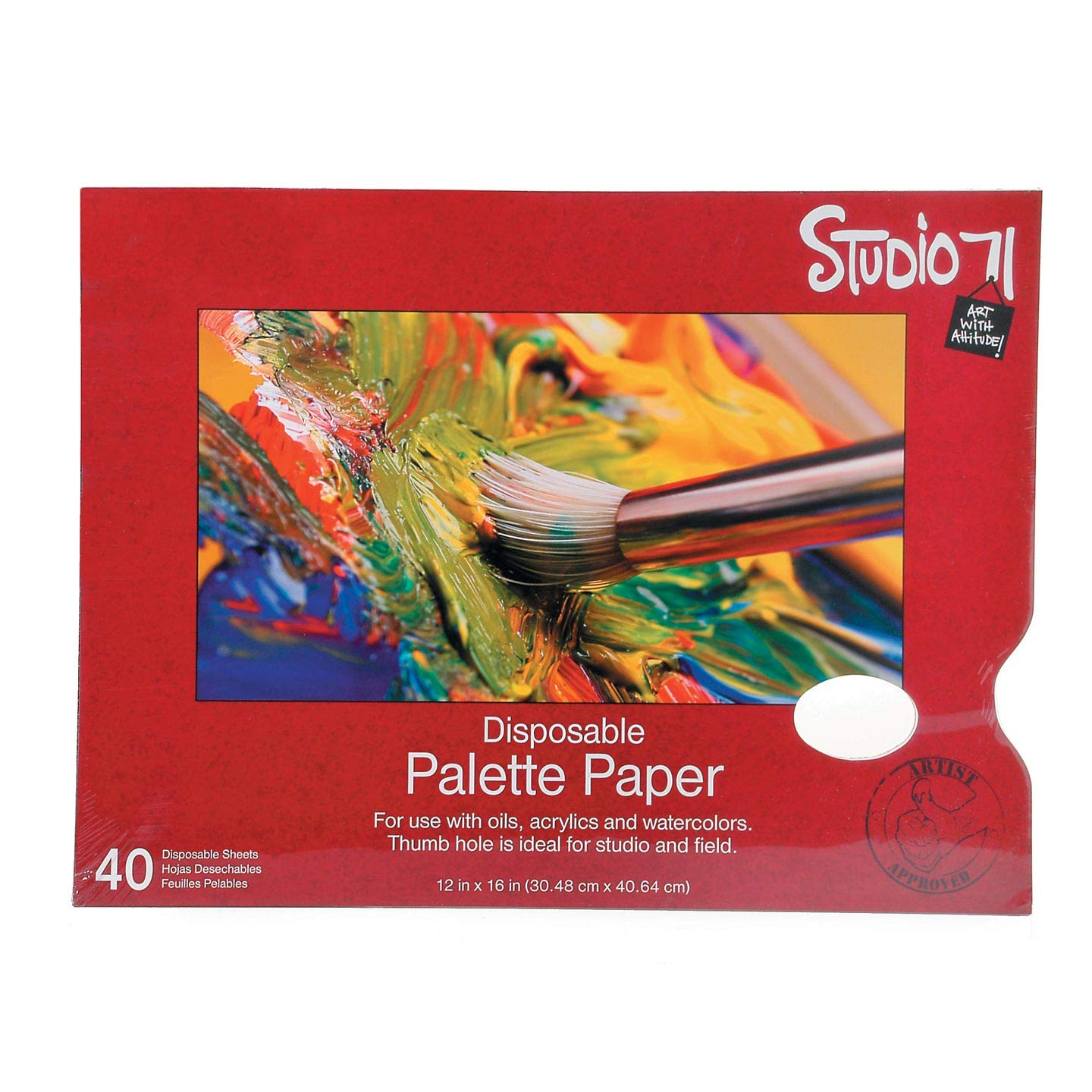 Bulk Buy: Darice DIY Crafts Studio 71 Palette Pad with Hole 12 x 16 inches 40 Sheets (12-Pack) 97490-12
