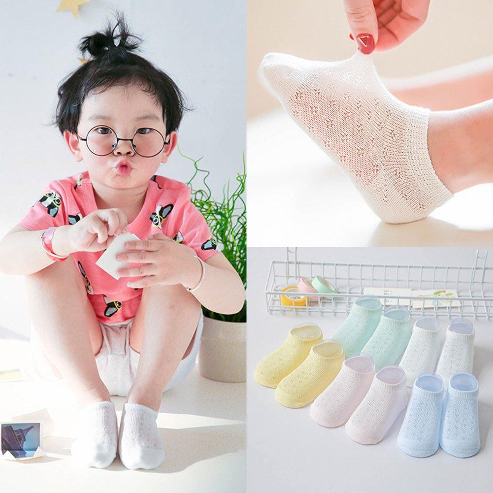 ink2055 5 Pairs Cotton Socks Children Kids Summer Breathable Hollow Holes Low Cut Socks Boat Socks