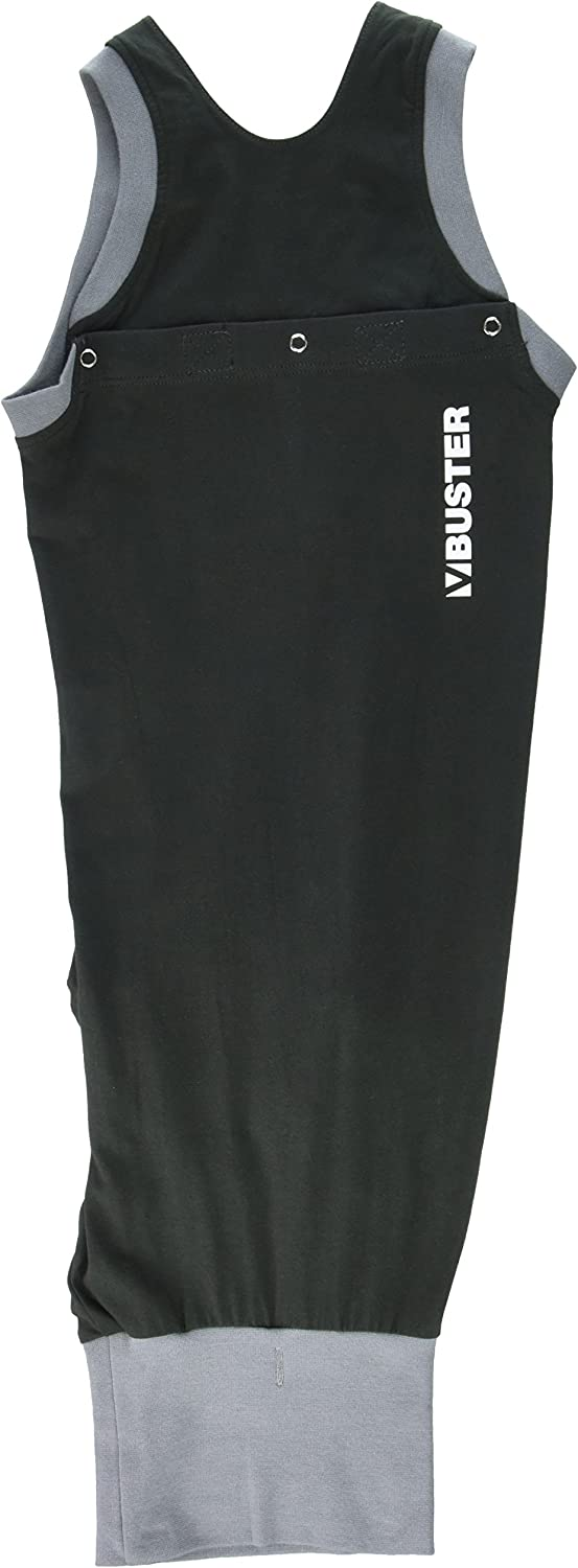 Kruuse Buster Body Suit for Dogs, Black/Grey, 24