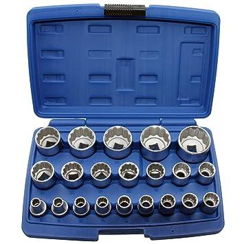 Steckschlüssel Einsatz 10 mm Vielzahn 1//2 Zoll Torx Werkzeug 6-Kant 12-Kant Nuss