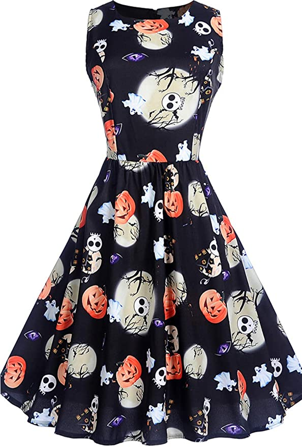 Womens Sleeveless Halloween Dresses
