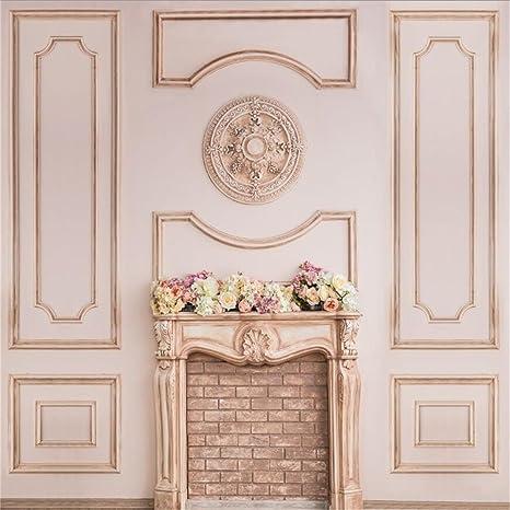 Amazon Csfoto 8x8ft Background For Beautiful Beige Fireplace
