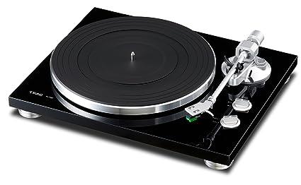 Teac TN-300-B - Tocadiscos (MDF, caucho, 420 x 341 x 119 mm), color negro