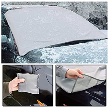 0dbaa7c5 2x Magnetic Car Windscreen Snow Cover Anti-Frost Ice Frost Shield Snow Cover  Dust Protector All Weather: Amazon.co.uk: Car & Motorbike
